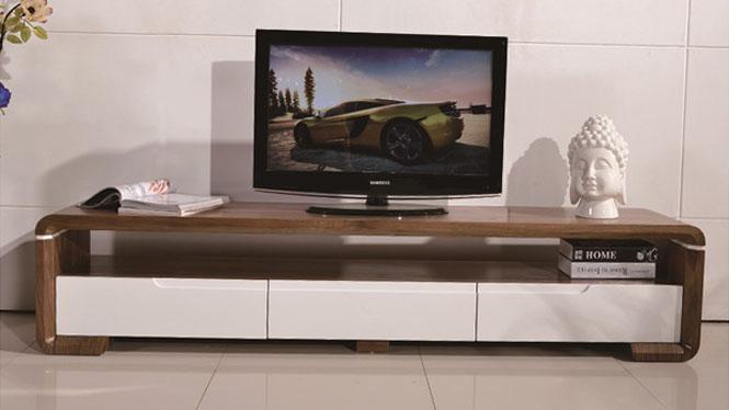 实木现代简约电视柜电视背景墙客厅电视柜储物柜1050