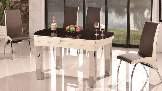 小户型餐桌折叠餐桌实木可伸缩餐桌椅组合饭桌1043