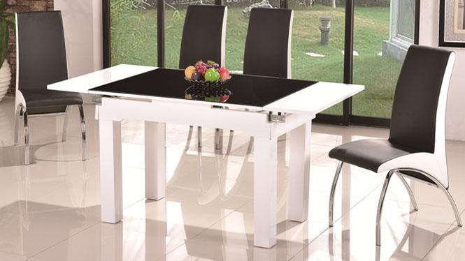 小户型圆形餐桌折叠餐桌实木可伸缩餐桌椅组合饭桌1043