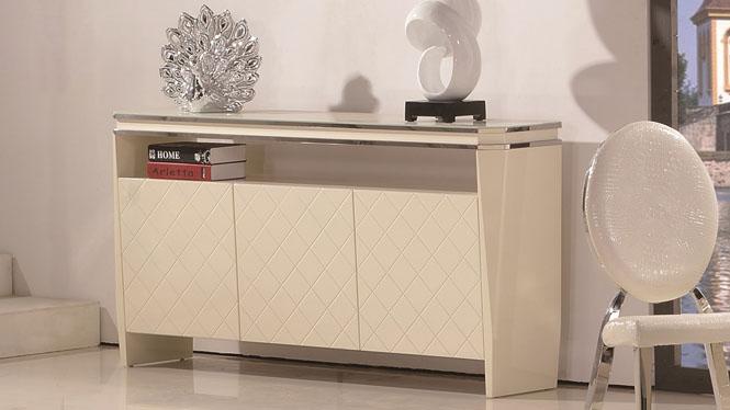 现代简约中式餐边柜碗柜酒柜 实木茶水柜橱柜储物柜边1298
