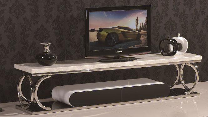 电视柜组合 大理石电视柜不锈钢电视机柜客厅地柜3305