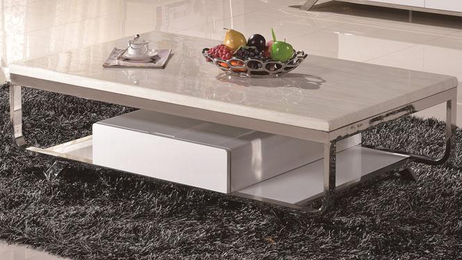 茶几大理石不锈钢时尚现代客厅家居茶几组合地柜6607