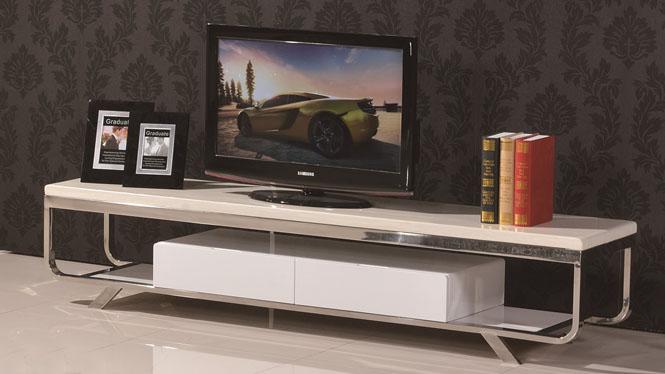 现代简约不锈钢大理石电视柜组合小户型电视柜6607