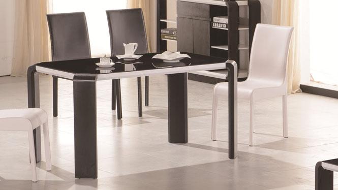 餐桌 小户型长方形实木桌橡木质小饭桌简约西餐桌3307
