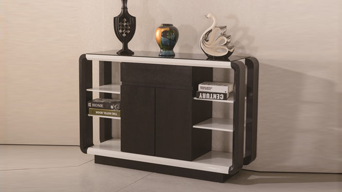 现代简约餐边柜碗柜酒柜 实木茶水柜橱柜储物柜边3307