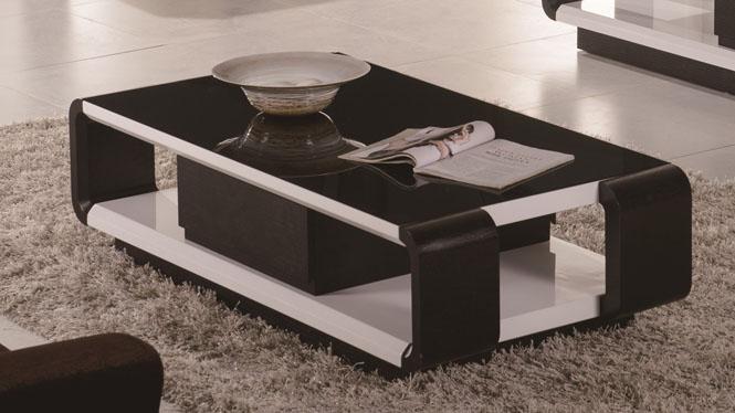 客厅茶几电视柜组合套装简约实木储物茶几3307