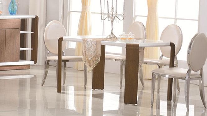 餐桌 实木餐桌 现代简约小户型餐桌长方形橡木餐桌3307