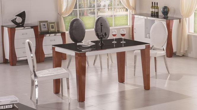 实木餐桌 长方形方桌饭桌现代简约小户型餐桌椅组合橡木餐桌1418