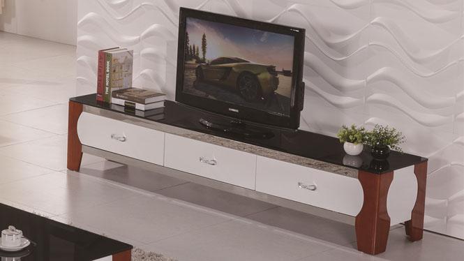 简约实木小户型电视柜组合 高档烤漆储物矮柜地柜1418