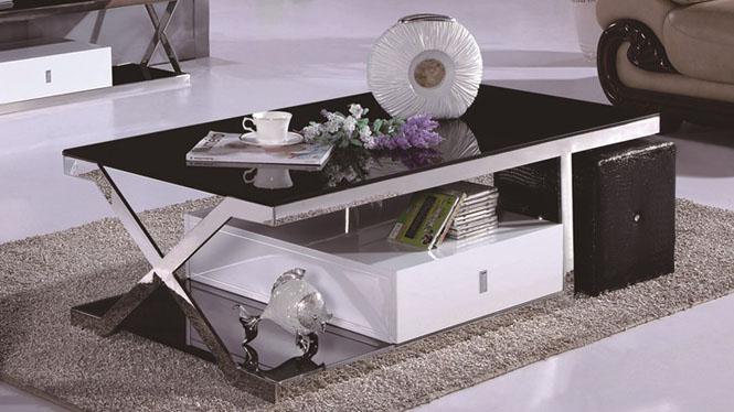茶几实木茶桌客厅小茶几简约时尚储物小户型方几1010