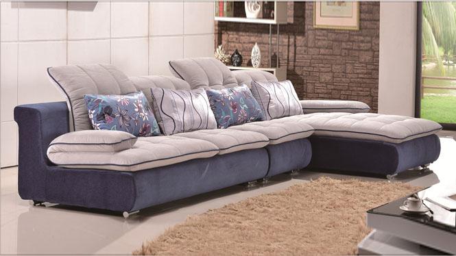 布艺沙发组合简约现代时尚大小户型客厅贵妃转角沙发693