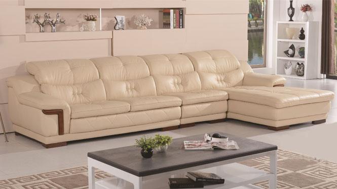 简约欧式真皮沙发现代小户型客厅转角组合中厚头层牛皮艺沙发 6235
