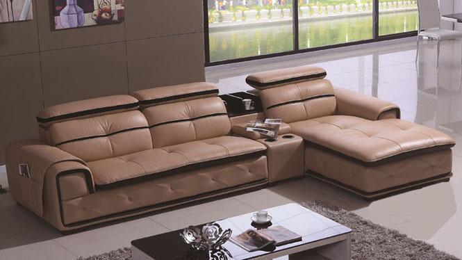 真皮沙发头层牛皮 小户型皮沙发 简约现代风客厅沙发客厅组合6233