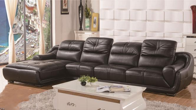 真皮沙发现代客厅组合小户型家具头层牛皮皮艺沙发转角HH8908