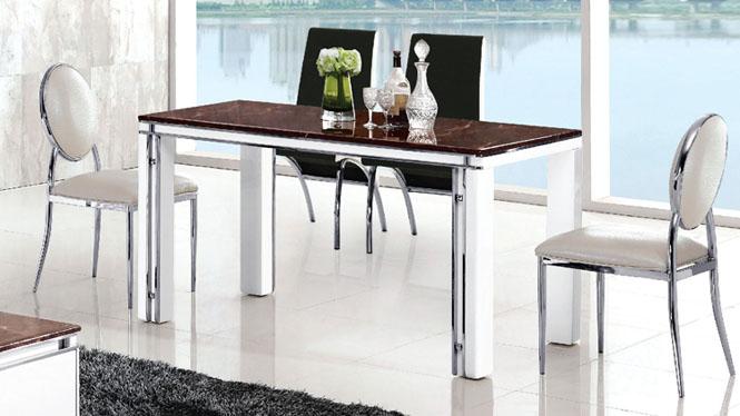 木质餐厅家具时尚简约现代餐桌中式餐台长方形饭桌人造板桌子832