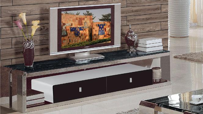 客厅茶几 不锈钢茶几 时尚大理石茶几简约现代电视柜组合856