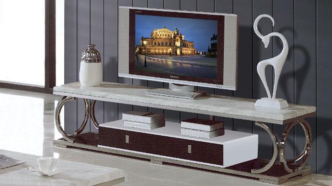 电视柜组合 简约现代烤漆不锈钢电视机柜客厅地柜855