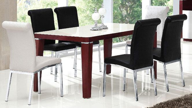 板式餐桌组合吃饭桌快餐桌椅简约家用餐桌子850