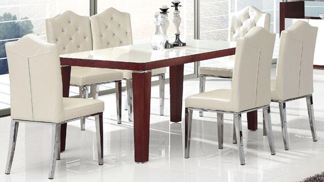 简约现代餐桌小户型宜家餐桌长方形饭桌特价板式组合839