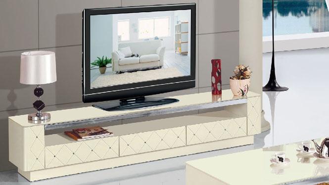 现代烤漆简约白色组合电视柜 时尚宜家创意客厅地柜矮柜960-1