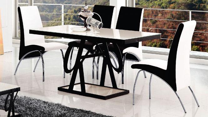 简约现代餐桌小户型宜家餐桌长方形饭桌板式组合835