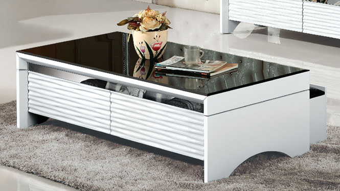 现代简约板式储物茶几创意茶几小户型客厅茶几电视柜组合982