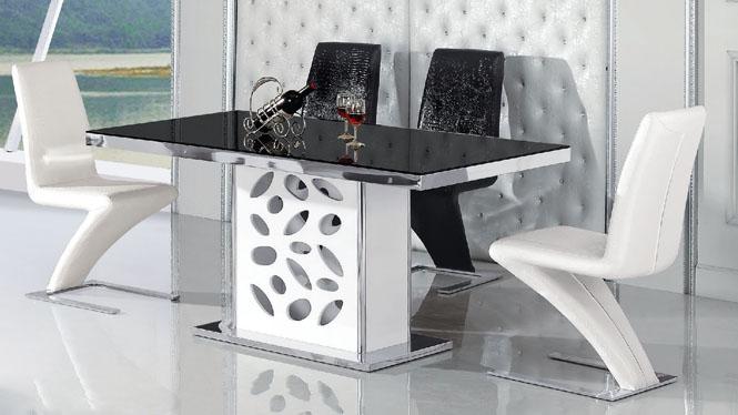 简约现代长方形板式烤漆餐桌餐厅时尚饭桌组合980