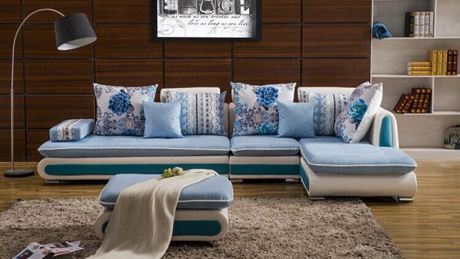 沙发布艺沙发组合现代小户型皮布沙发客厅组合 可拆洗布沙发AST-2