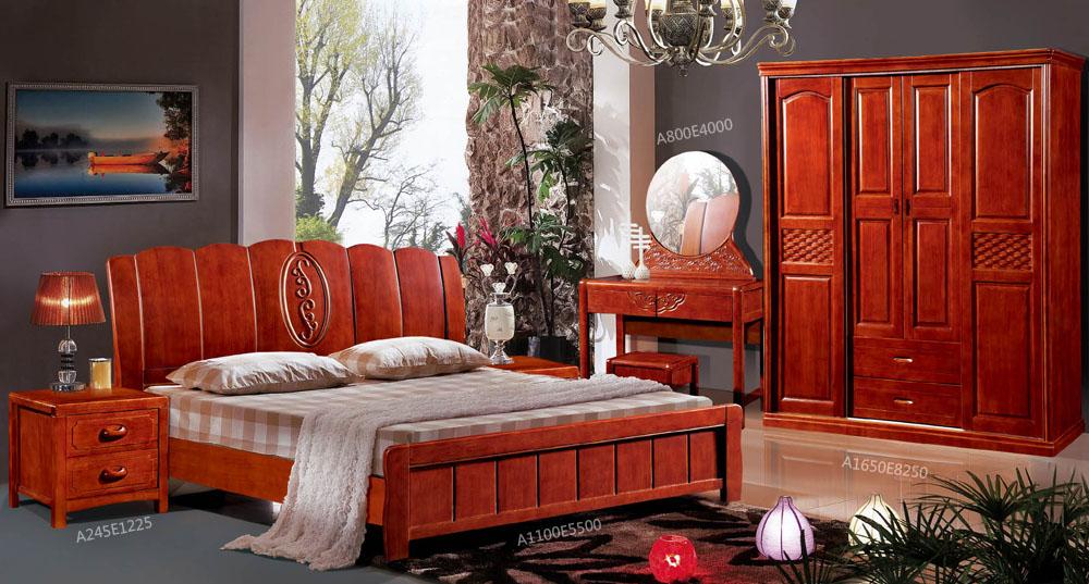 橡木实木床1.8床 简约橡木床 婚床 实木床 橡木储物床9804#