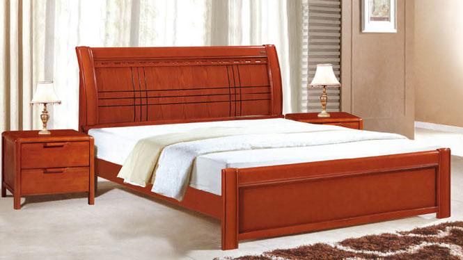 实木床1.8 1.5米 双人床 橡木床 婚床 品牌特价床912#