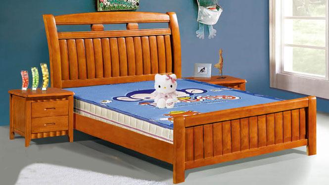 实木床类儿童床板式床橡木床男孩女孩1.2米1.5米床103#