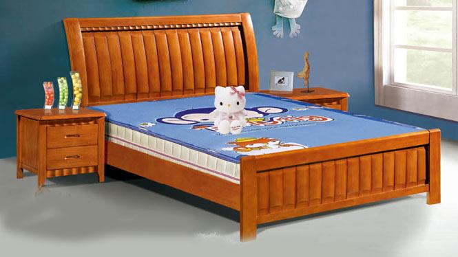 实木床特价家具 1.2 1.5米双人床 储物高箱橡木 床 儿童床 榻榻米109#