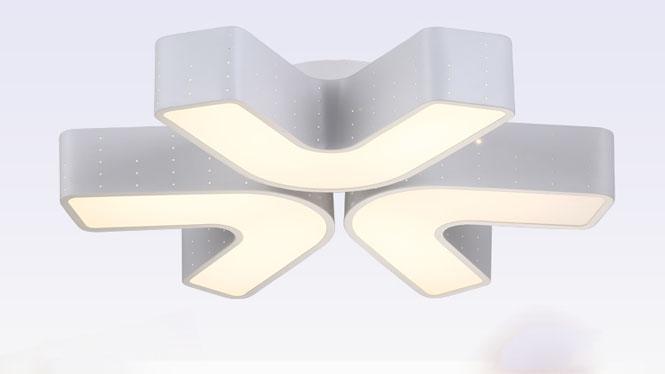 现代简约亚克力餐厅吸顶灯 书房卧室创意V字灯饰X8012