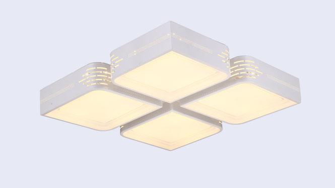 新款亚克力客厅吸顶灯 餐厅、卧室LED遥控调光灯饰灯具X8009