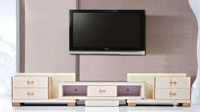 电视柜 家具 现代简约伸缩电视柜茶几组合 客厅家具金粉TV2580