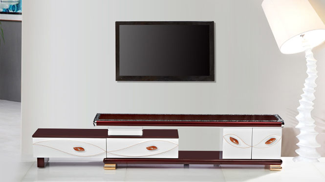 电视柜 家具 现代简约伸缩电视柜茶几组合 客厅家具金叶TV1688