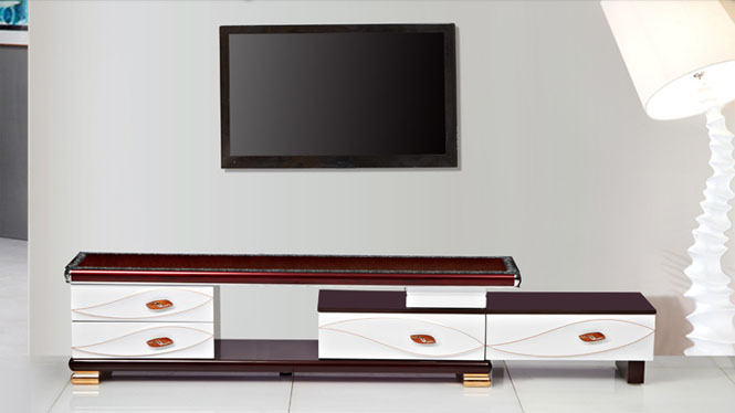 电视柜 家具 现代简约伸缩电视柜茶几组合 客厅家具金叶TV1698