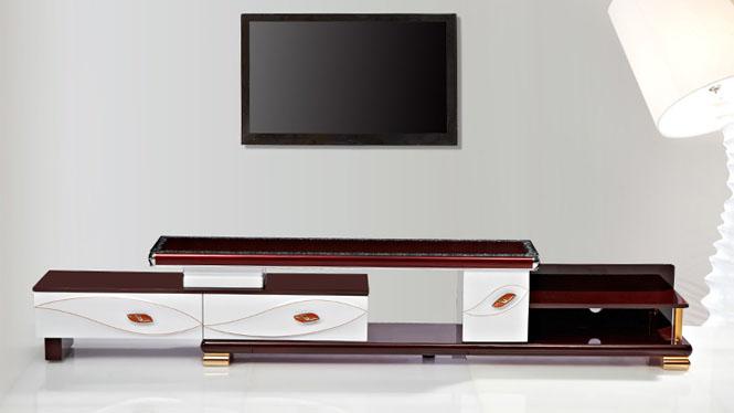 电视柜 家具 现代简约伸缩电视柜茶几组合 客厅家具金叶TV2018