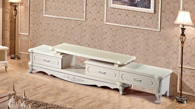 欧式白色高档时尚听视柜 舒适典雅大方欧式家具电视柜尚欧风情TV2200