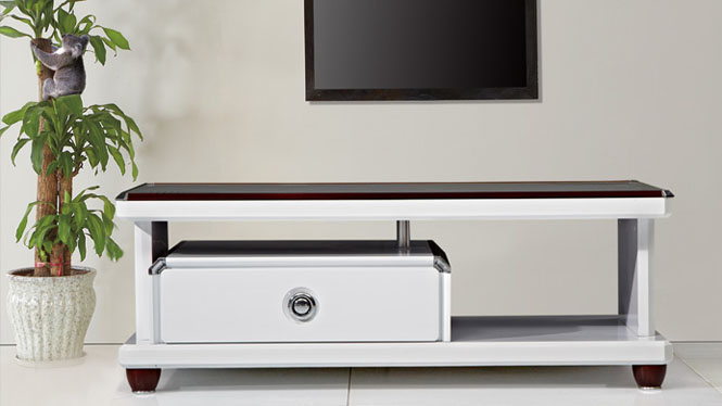 茶几 家具 现代简约伸缩电视柜茶几组合 客厅家具修色CJ1208