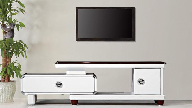 电视柜 家具 现代简约伸缩电视柜茶几组合 客厅家具修色TV1190