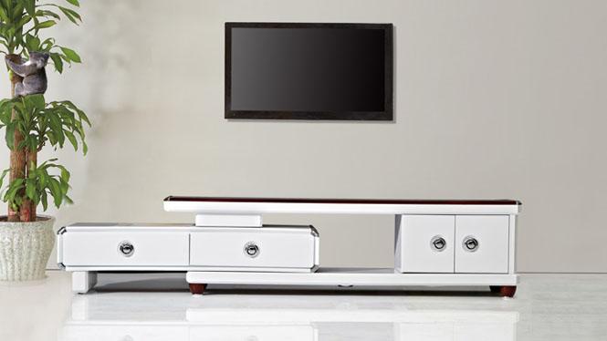 电视柜 家具 现代简约伸缩电视柜茶几组合 客厅家具修色TV1680