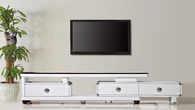 电视柜 家具 现代简约伸缩电视柜茶几组合 客厅家具修色TV1810