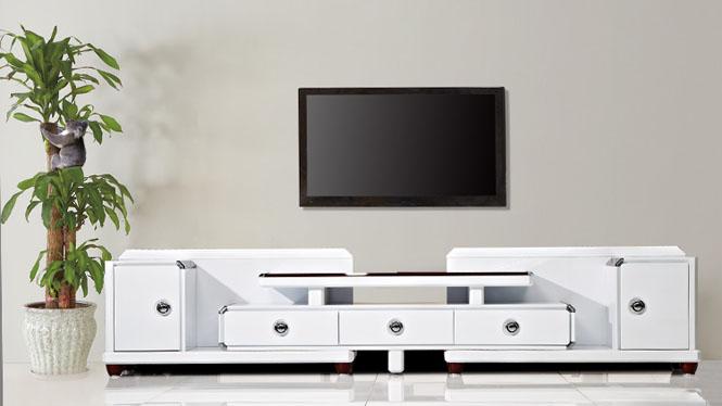 电视柜 家具 现代简约伸缩电视柜茶几组合 客厅家具修色TV2280