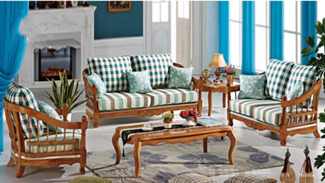 新款现代布艺沙发组合 小户型布艺沙发组合 地中海布艺沙发MY308#