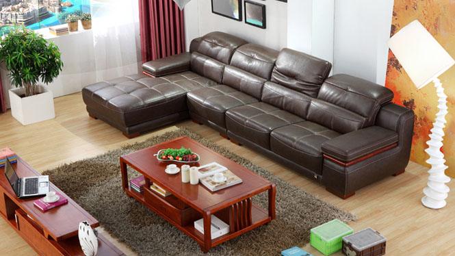 进口头层牛皮 真皮沙发 中厚皮质 客厅组合 高档皮沙发F132