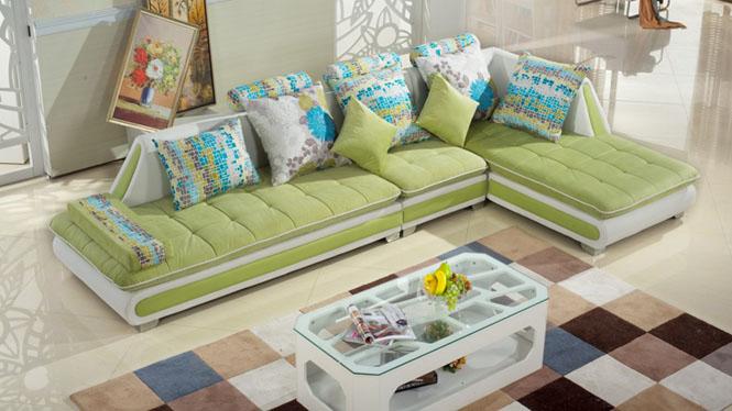 简约现代家具 沙发 组合 客厅沙发 小户型沙发 布艺沙发 布沙发MQF-8001