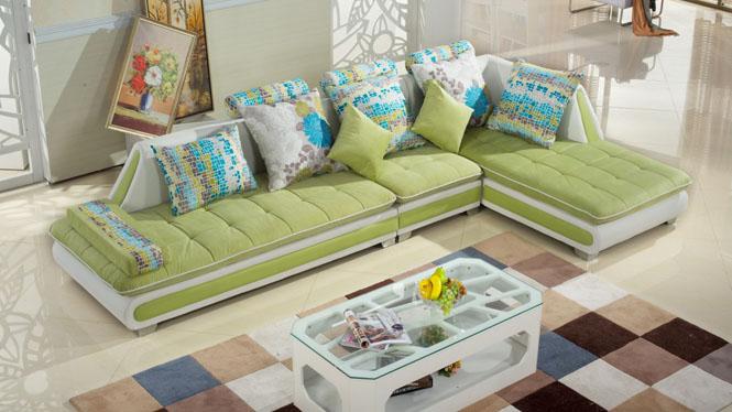 客厅布艺沙发 现代简约小户型布艺沙发组合 转角可拆洗沙发MQF-8002