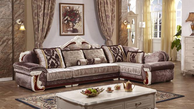 布艺沙发可拆洗贵妃小户型现代简欧组合客厅转角休闲宜家L0513