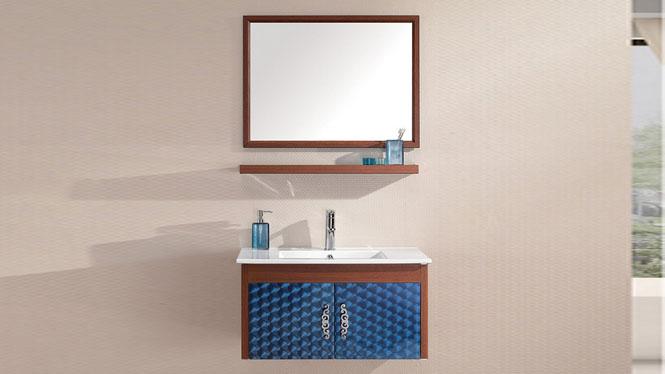 太空铝浴室柜 浴室柜 挂墙柜 洗脸盆浴室柜组合 简约现代800mm WSJ-814